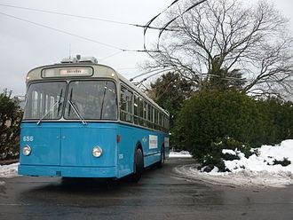 Trolleybuses in Lausanne - Image: La Batteuse n°656
