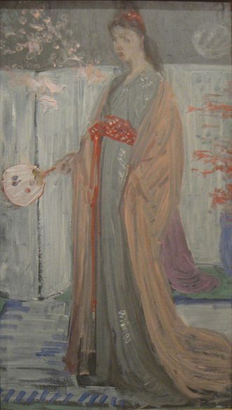 The Princess from the Land of Porcelain - Sketch by Whistler, showing flowers which were later removed