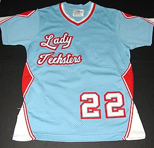 Louisiana Tech Lady Techsters basketball - Columbia blue Lady Techster jersey with sleeves