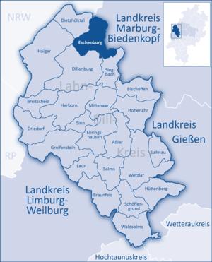 Eschenburg - Image: Lahn Dill Kreis Eschenburg
