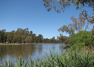 Lake Benalla - View of Lake Benalla, from the south east, in 2006.