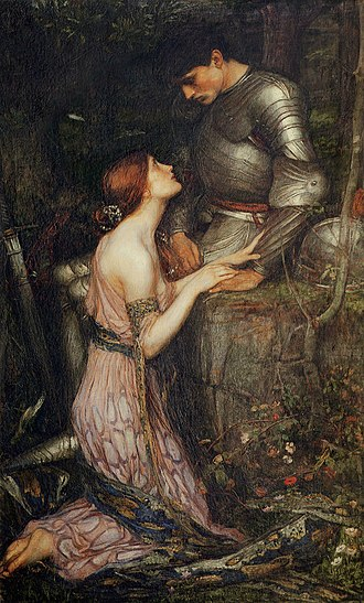 Lamia - Lamia (first version) by John William Waterhouse (1905); note the snakeskin wrapped around her arm and waist.