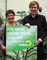 Landesvorsitzende Anja Piel und Jan Haude stellen die Kommunalwahl-Kampagne von 2011 vor.jpg