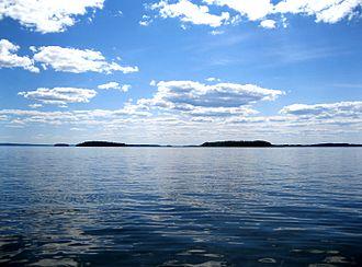 Lake Lappajärvi - Image: Lappajärvi, july 2014