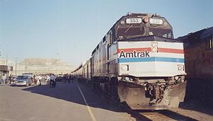 Pioneer (train) - The final Pioneer at Green River, Wyoming in May 1997
