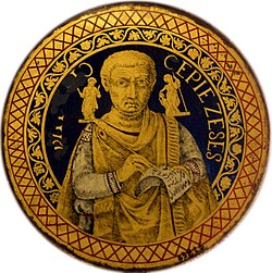 Late-17th-century copy of a lost gold-glass portrait (Reserve Collection of the Vatican Museum) mirrored.jpg