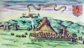 Launceston Castle, depicted by John Speed.png