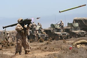 FIM-92 Stinger - A U.S. Marine fires an FIM-92A Stinger missile during a July 2009 training exercise in California.