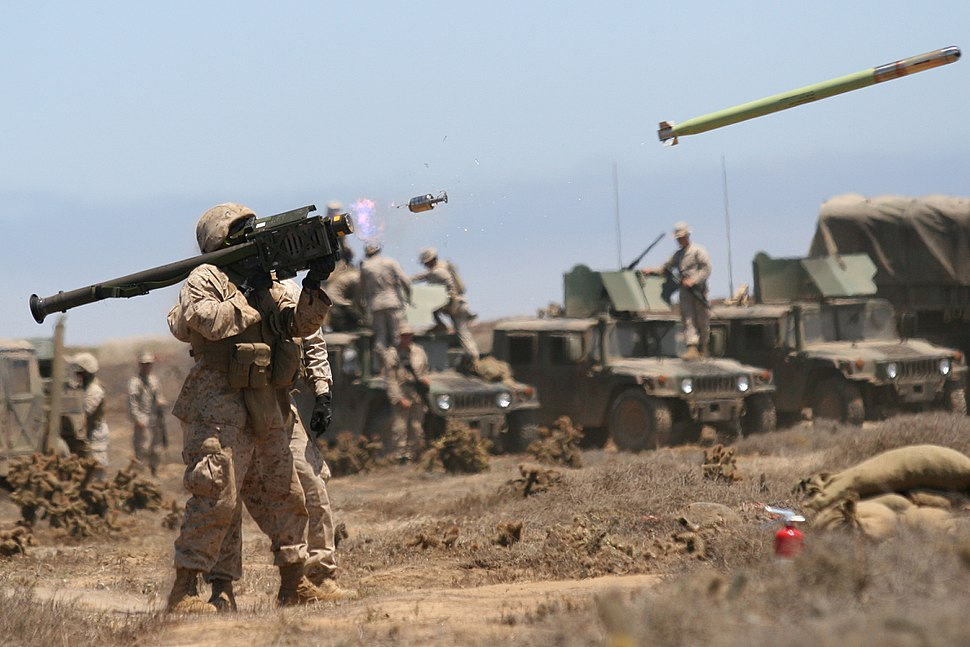 Launched FIM-92A Stinger missile