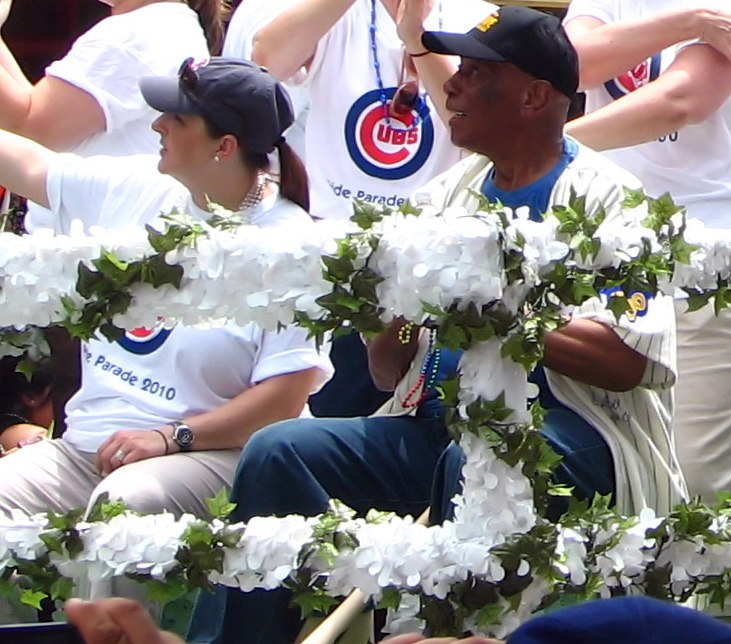 Laura Ricketts and Ernie Banks (4741788452)