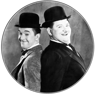 Laurel and Hardy British & American comedy duo