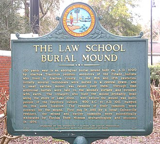 History of Gainesville, Florida - Historical marker on the University of Florida campus