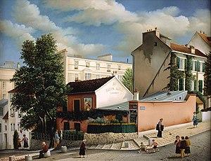 Lapin Agile - Le Lapin Agile, painting by Raphaël Toussaint