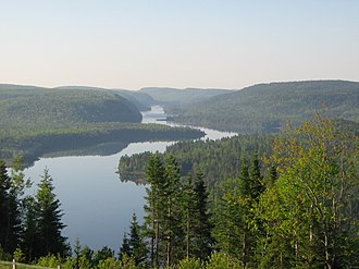 "La Mauricie National Park - Wapizagonke Lake viewed from the lookout ""Le passage"""