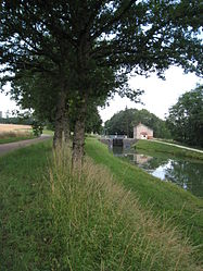 Canal and lock at Villeneuve