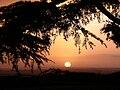 Le lever du soleil au Mont St-Michel.JPG