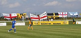 Leamington FC supporter flags.JPG