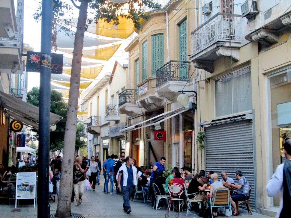 Ledra Street sunny afternoon Nicosia Cyprus