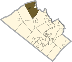Location of Washington Township in Lehigh County