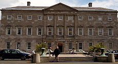 Leinster House18th century ducal palace now the seat of parliament that houses both the Dáil & Seanad