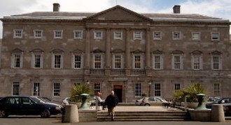 Townhouse (Great Britain) - Leinster House, 18th century Dublin townhouse of the Duke of Leinster. It is now the seat of parliament.