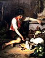 Lembesis Polychronis Child with Rabbits high, contrast.jpg