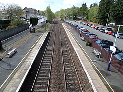 Lenzie railway station looking towards Croy.JPG