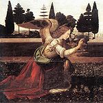 Leonardo da Vinci - Annunciazione - c. 1472 – 1475 left.jpg