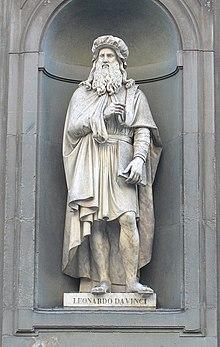 Leonardo da Vinci, Standbild von Luigi Pampaloni, 1837–1839 (Uffizien) (Quelle: Wikimedia)
