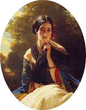 Leonilla Bariatinskaya - Portrait by Franz Xaver Winterhalter