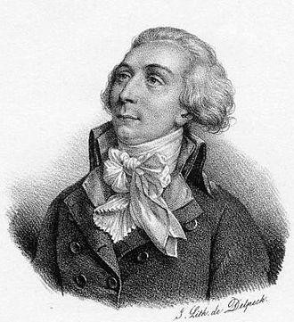 Louis-Michel le Peletier, marquis de Saint-Fargeau - Portrait of Le Peletier by François Delpech (1830)