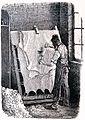 """Les merveilles de l'industrie, 1873 """"Rataurage des peaux libres sur la herse du parcheminier"""". (4726572127).jpg"""
