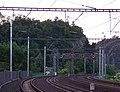 Libčice nad Vltavou, nádraží, pohled k Liběhradu (02).jpg
