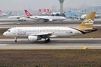Libyan Airlines, 5A-LAQ, Airbus A320-214 (39243850794).jpg