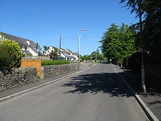 Liff, Angus - Church Road, Liff, Angus, looking east