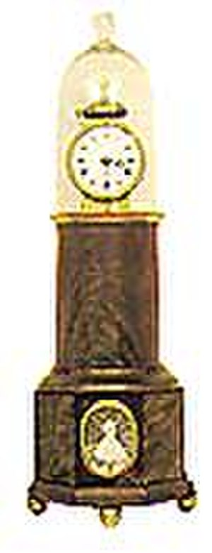 Simon Willard clocks - A unique Empire lighthouse clock in mahogany case, at the White House library.