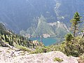 Lincoln Lake viewed from Lincoln Peak July 22 ,2007 - panoramio.jpg