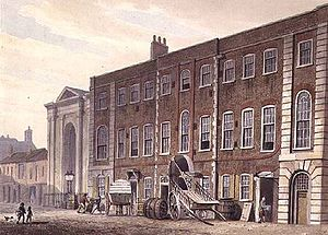 Concerti grossi, Op. 6 (Handel) - George Shepherd, 1811: Lincoln's Inn Fields Theatre, where most of Handel's Concerti Grossi Op.6 were first performed in winter 1739–40