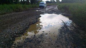 Lingga, Malaysia - Image: Lingga Bad Road