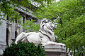 Lion sculpture, New York Public Library, New York, NY 07422u original.jpg