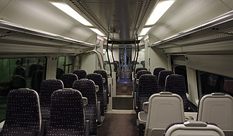 Stansted Express - Interior of the Stansted Express Class 379