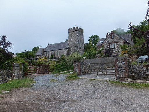 Llanrhidian church and cottages-geograph.org.uk-3545022