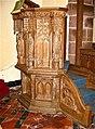 Llywel Church. Pulpit carved by Harry Hems, 1925.jpg