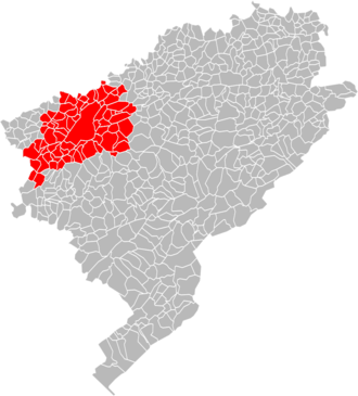 Communauté d'agglomération du Grand Besançon - Location in the Doubs department.