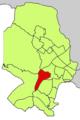 Localització de la Teulera respecte del Districte de Ponent.png