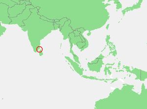 Gulf of Mannar - Image: Locatie Golf van Mannar