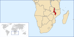 Location of Malawi