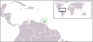 Area code 868 - Image: Location Trinidad And Tobago