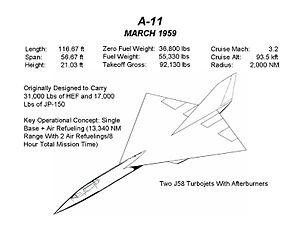 Lockheed A-12 - A-11 design, March 1959