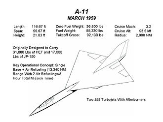 Lockheed A-12 - A-11 design, March 1959